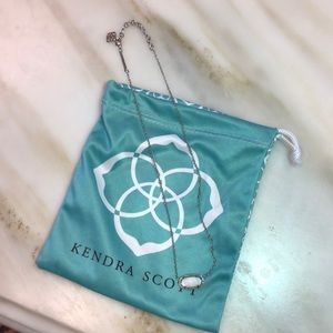 Kendra Scott Elisa Silver Necklace in White Pearl